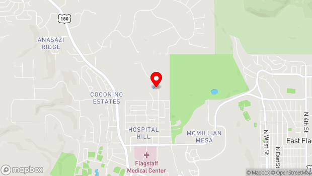 Google Map of 2101 North San Francisco Street, Flagstaff, AZ 86001