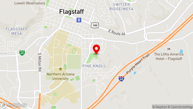 Google Map of 703 East Sawmill Road, Flagstaff, AZ 86001