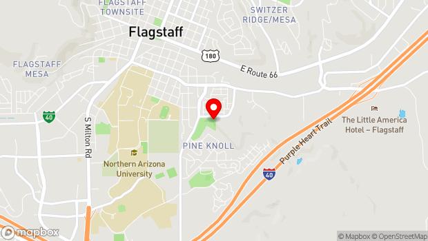 Google Map of 703 E Sawmill Rd, Flagstaff, AZ 86001