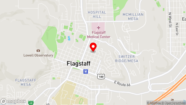 Google Map of 510 North Leroux St, Flagstaff, AZ 86001