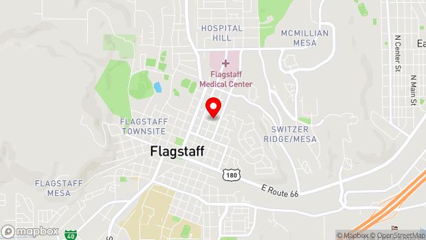 Google Map of 510 North Leroux St, Flagstaff, AZ 86001
