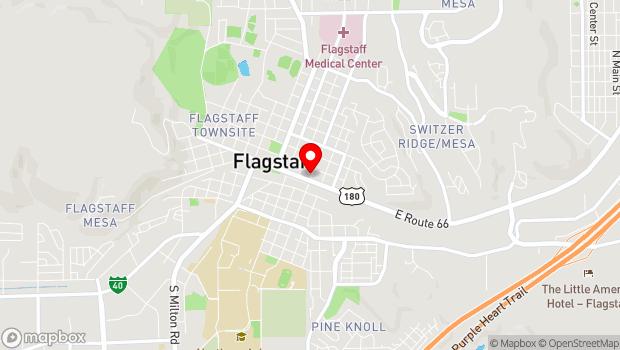 Google Map of 22 e. route 66, Flagstaff, AZ 86001