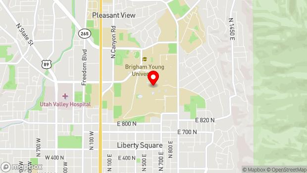 Google Map of Franklin S. Harris Fine Arts Center, Provo, UT 84604