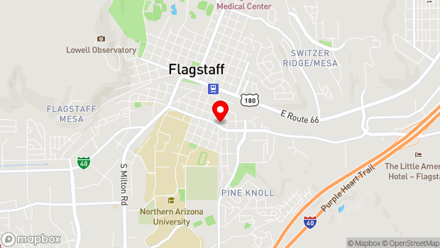 Google Map of 203 E Brannen Ave, Flagstaff, AZ 86001