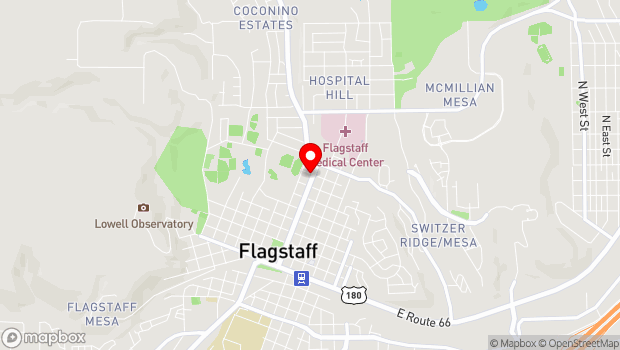 Google Map of 719 N Humphreys, Flagstaff, AZ 86001
