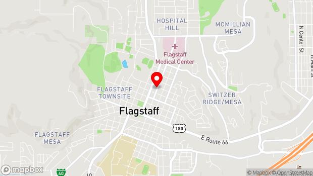 Google Map of 423 N. Beaver Street, Flagstaff, AZ 86001