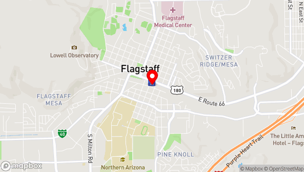 Google Map of 5 S San Francisco St, Flagstaff, AZ 86001