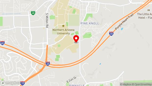 Google Map of Pine Knoll Drive, Flagstaff, AZ 86011