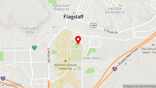 Google Map of 911 W. Sawmill Rd., Flagstaff, AZ 86001