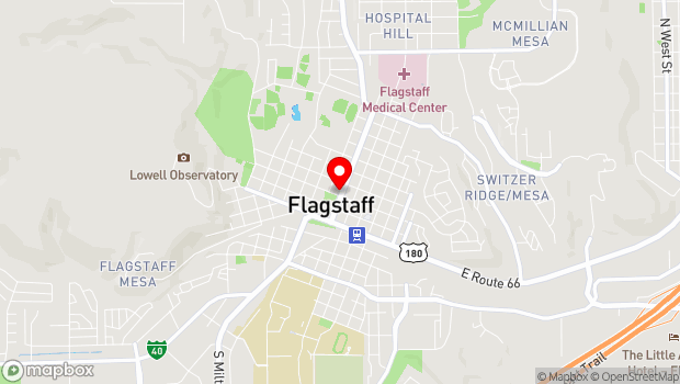 Google Map of 204 W Birch, Flagstaff, AZ 86001