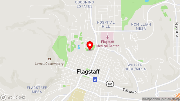 Google Map of 400 W. Elm Street, Flagstaff, AZ 86001
