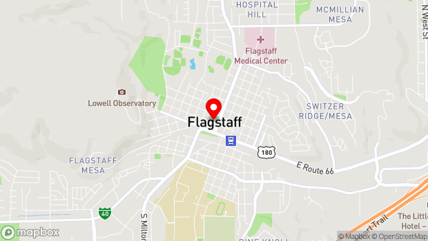 Google Map of 212 West Aspen Avenue, Flagstaff, AZ 86001