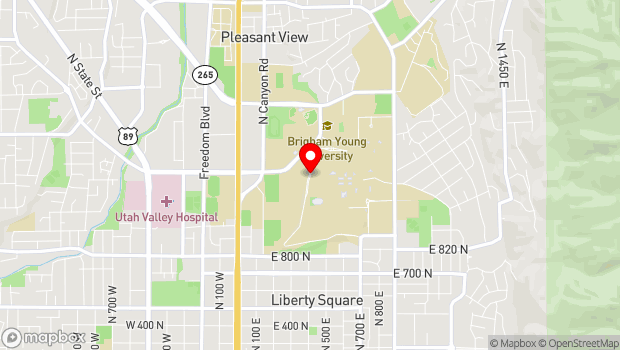 Google Map of North Campus Drive, Provo, UT 84602