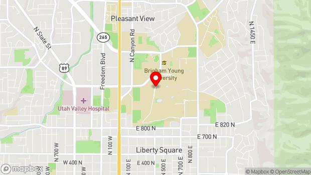 Google Map of North Campus Drive, Provo, UT 84602