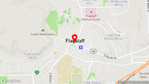 Google Map of 211 West Aspen Avenue, Flagstaff, AZ 86001