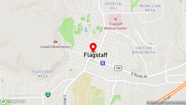 Google Map of 300 W Aspen Ave, Flagstaff, AZ 86001