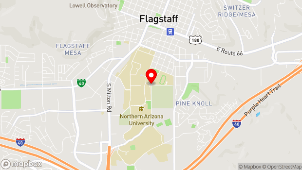 Google Map of South San Francisco Street, Flagstaff, AZ 86011
