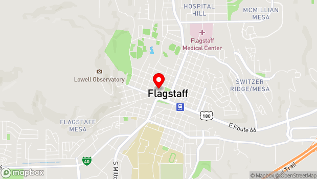 Google Map of 400 West Aspen Avenue, Flagstaff, AZ 86001