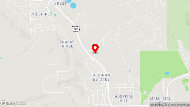 Google Map of 2340 North Fort Valley Road, Flagstaff, AZ 86001