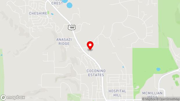 Google Map of 2340 North Fort Valley Road, Flagstaff, AZ 86001