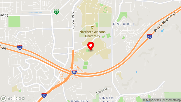 Google Map of 306 East Pine Knoll Drive, Flagstaff, AZ 86011