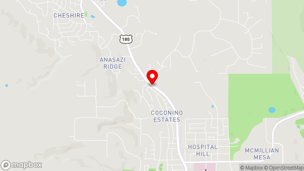 Google Map of 2300 North Fort Valley Road, Flagstaff, AZ 86002