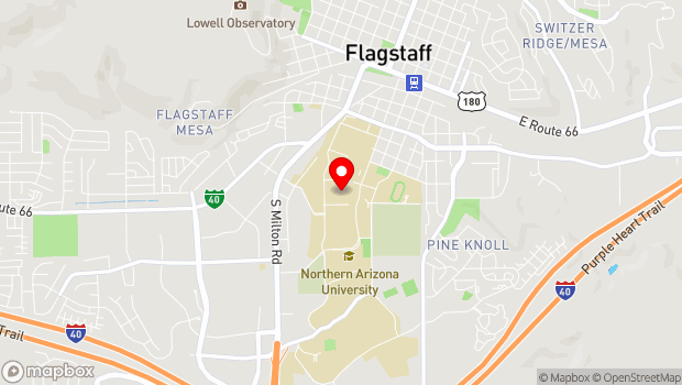 Google Map of 1050 S. Knoles Drive, Flagstaff, AZ 86001