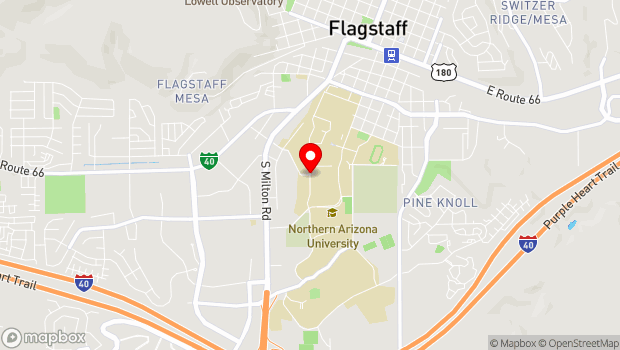 Google Map of Knoles and Riordan Road, Flagstaff, AZ 86011