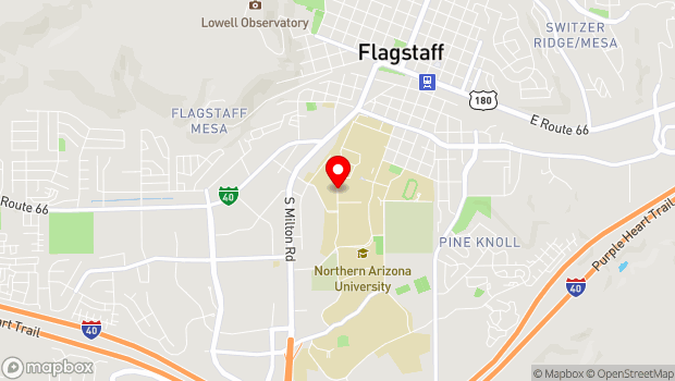 Google Map of 1001 S. Knoles Dr., Flagstaff, AZ 86011