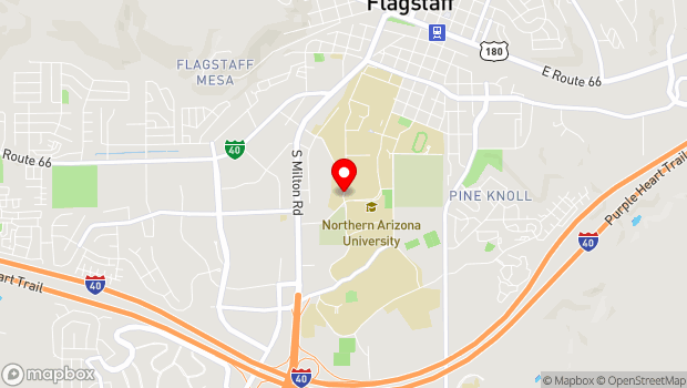 Google Map of 1 S. Knoles Drive, Flagstaff, AZ 86011