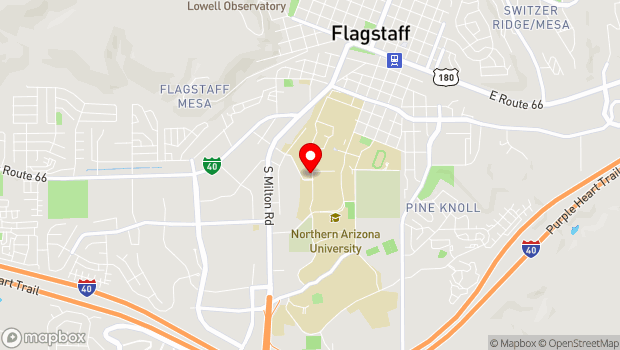Google Map of 1115 South Knoles Drive, Flagstaff, AZ 86011