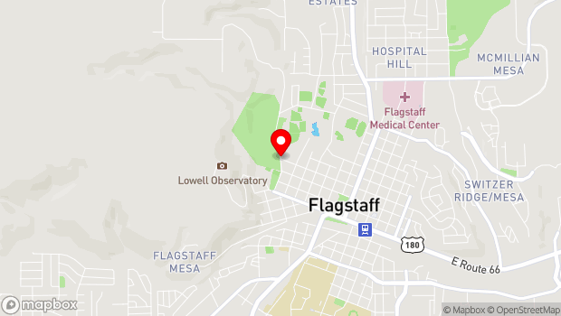 Google Map of 191 North Thorpe Road, Flagstaff, AZ 86001