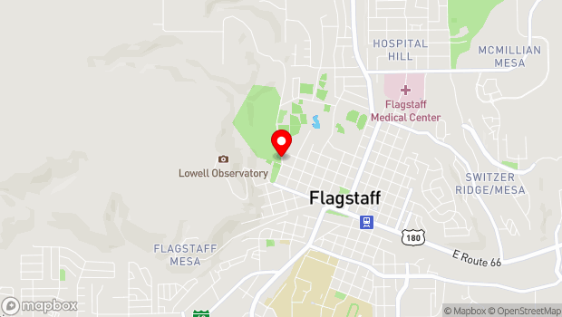Google Map of 245 N. Thorpe Rd, Flagstaff, AZ 86001