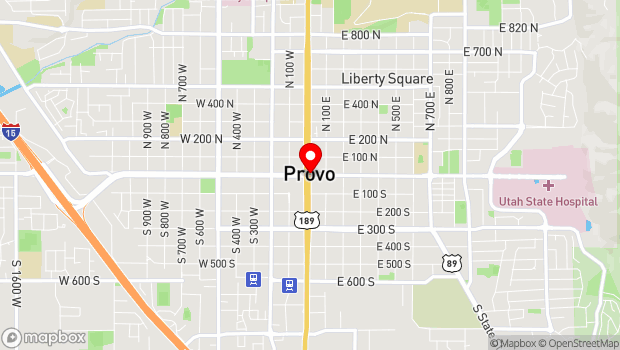 Google Map of 500 West and 200 East, 500 North and 600 South, Provo, UT 84601