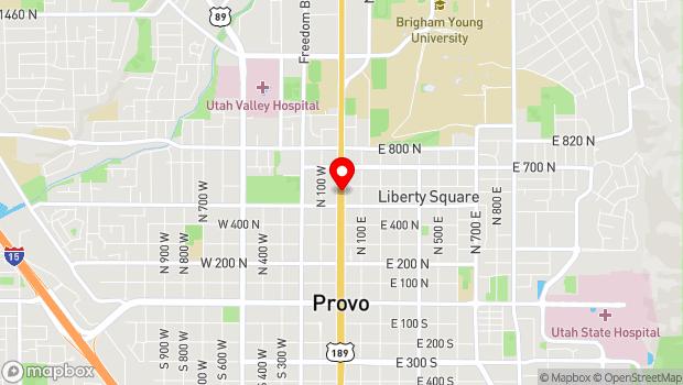 Google Map of 550 North University Avenue, Provo, UT 84601