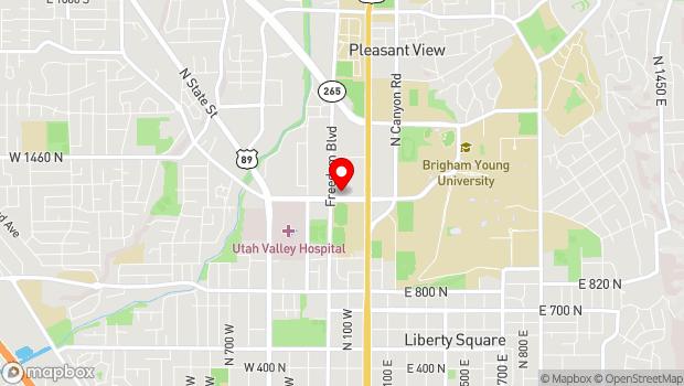 Google Map of 150 East Bulldog Boulevard, 1230 North, Provo, UT 84602