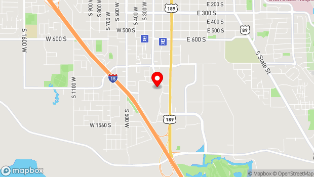 Google Map of 1200 Towne Centre Boulevard, Provo, UT 84601