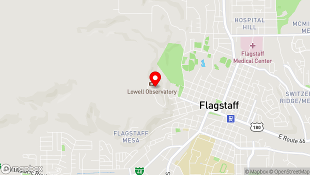 Google Map of 1400 West Mars Hill Road, Flagstaff, AZ 86001