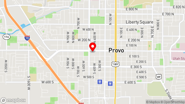 Google Map of 425 West Center Street, Provo, UT 84603