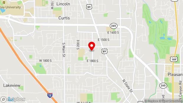 Google Map of 600 South 400 East, Orem, UT 84058