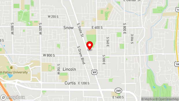 Google Map of 745 South State Street, Orem, UT 84058