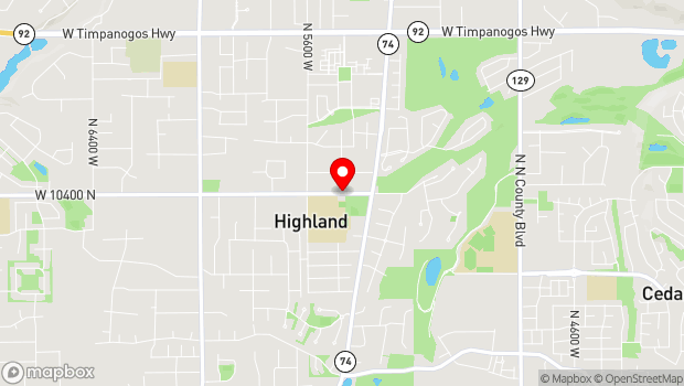 Google Map of 5378 West 10400 North, Highland, UT 84003