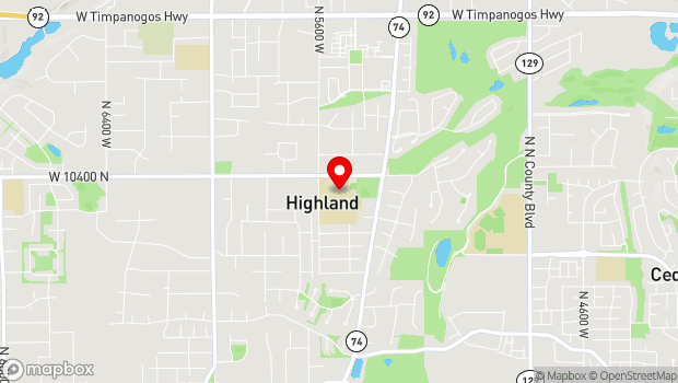 Google Map of 5525 W 10400 N, Highland, UT 84003