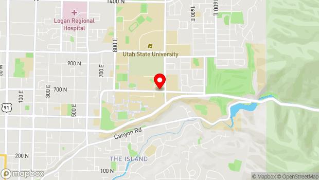 Google Map of 4030 Old Main Hill, Logan, UT 84322