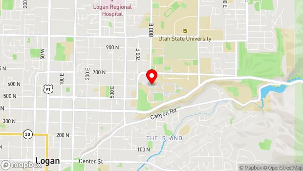 Google Map of 1400 Old Main Hill, Logan, UT 84322