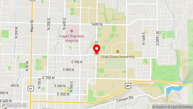 Google Map of 1000 North 800 East, Logan, UT 84322