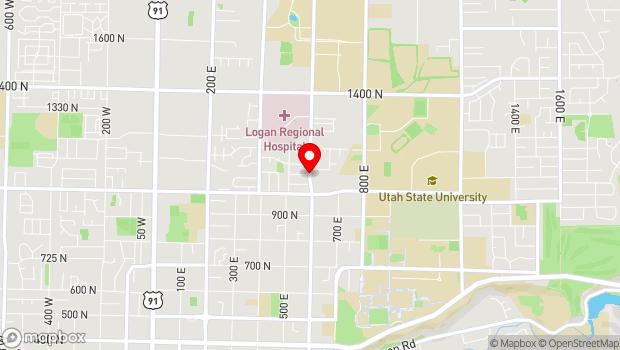 Google Map of 650 North 1100 East, Logan, UT 84322