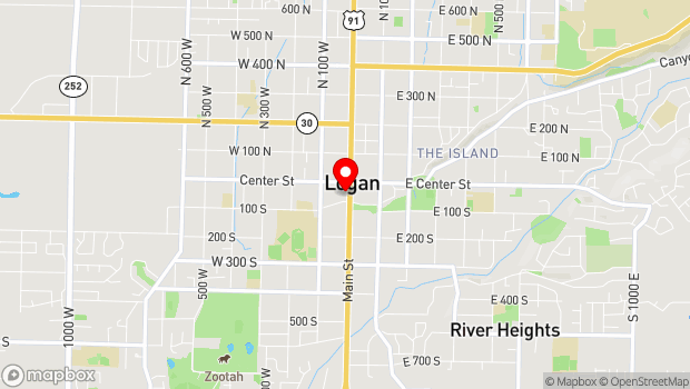 Google Map of 43 S. Main, Logan, UT 84321