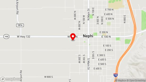 Google Map of 350 West Center Street, Nephi, UT 84648