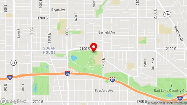Google Map of 1602 East 2100 South, Salt Lake City, UT 84152